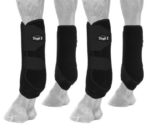 Tough 1 Extreme Vented Sport Boots Set, Black, Medium