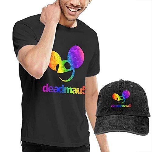 Tengyuntong sunminey Homme T- T-Shirt Polos et Chemises Deadmau5 Men's Personality Cotton Casual T-Shirt & Denim Cap (Baseball Hat)