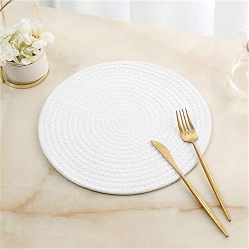 GUOCAO Coaster Table Mat Isolierung Schüssel Pad weicher handgefertigte ovale runder Entwurf Baumwolle Antiverbrühschutz Platzdeckchen Beleg Küchenzubehör Matte (Color : 7, Size : Round)