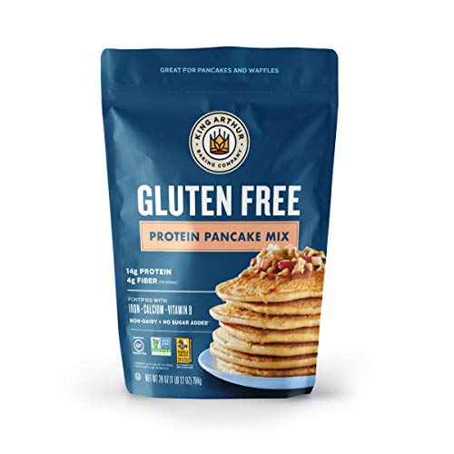King Arthur Non-GMO Project Verified Certified Gluten Free by The GFCO, Gluten Free Protein Pancake Mix,28 Ounce