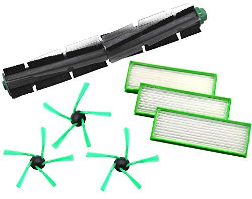 1 Rundbürste 3 Seitenbürsten 3 Filter geeignet für Vorwerk VR200 VR300 VR 200 300