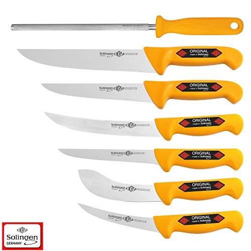 Solingen 7 Teilig Klein VIEH Set Metzgermesser Schlachtermesser Messer Butcher Knife 4202