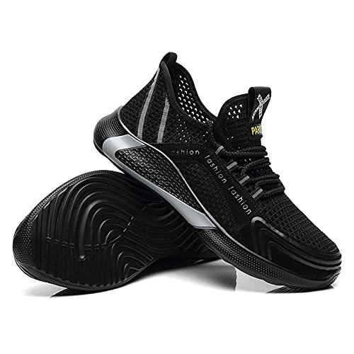Zapatos de Seguridad para HombresZapatos de Trabajo Ligeros conPunta de AceroZapatillas industriales Transpirables Zapatillas de Deporte con Punta de Acero Botas ligerasblack38