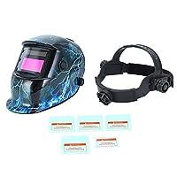 軽量ソーラー溶接ヘルメット自動暗色化マスクポータブル電気アークマスクUVIR保護マスクレンズ付き