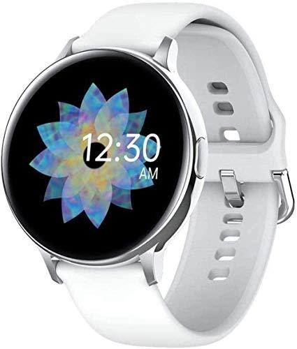 Reloj inteligente de 1,3 pulgadas, pantalla táctil a color, impermeable, pulsera deportiva de datos de sueño, Bluetooth, podómetro, color negro y plateado