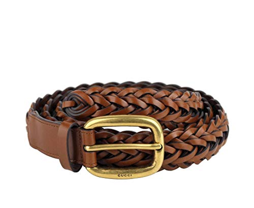 Gucci 380606 2535 - Cinturón de cuero trenzado para mujer (32)