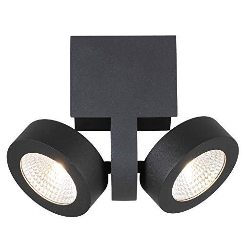 BETLING Deckenstrahler Deckenleuchte 2x10W Deckenlampe LED1800lm Aluminum Warmweiß Wandstrahler mit 2 Flammig, Innen-Beleuchtung Mordern für Wohnzimmer Schlafzimmer Treppenhaus Flur