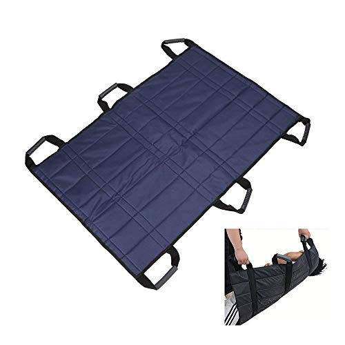 43 * 27 Inch Transfer Boards Belt Slide Bed Assistance Devices Adult Protective Underpads Draw Sheet Turner Medical Lift Sling Hospital Bed Patients Positioning Pad for Elderly Bariatric-6 Handles