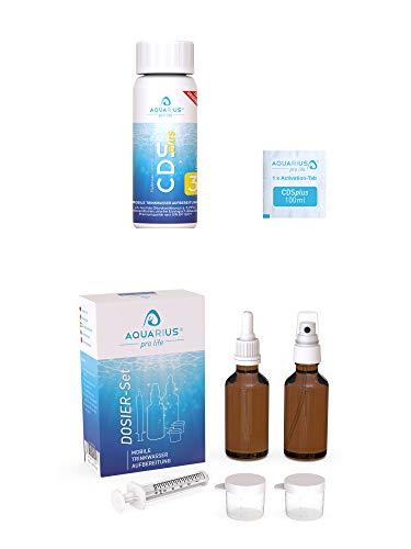 AQUARIUS pro life ® - CDSplus 100 ml + Dosier-Set Bundle I patentierte Chlordioxid Lösung I CDL Tropfen + Pipette & Messbecher I Das Original
