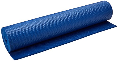 YogaDirect 1/4' Deluxe Extra Thick Yoga Sticky Mat, Royal Blue