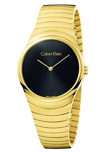 Calvin Klein Damen Analog Quarz Uhr mit Edelstahl Armband K8A23541