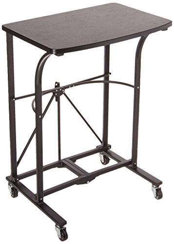 Origami Fully Assembled Small Desk,Folding Portable Laptop Trolley,Steel frame Table,Small Computer Desk,Craft Desk,Gaming Desk,Storage Space Saving Work Station, Home office