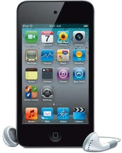 Screen Protector +Box Packaging with Original Music Player Apple iPod 4th Generation Touch (8GB-Black)