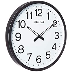 Seiko Ultra Modern Wall Clock, Black