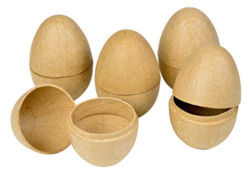 5Stk. Pappmaché Eier teilbar 8,4cm hoch ø6cm Decopatch Serviettentechnik Ostern