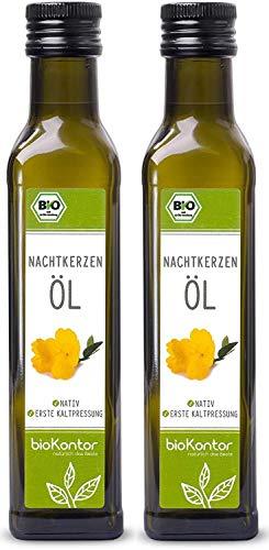 Bio Nachtkerzenöl - nativ, kaltgepresst, 100% rein von bioKontor - 2x250ml / 500ml