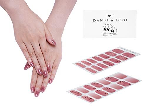Danni&Toni Semi Cured Gel Nail Strips Gel Nail Stickers Glaze Nail (28 Stickers)