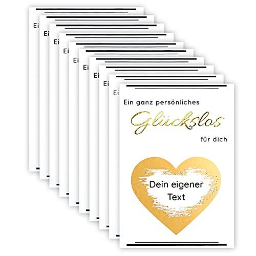 10 PREMIUM Rubbellose mit exklusiver GOLDPRÄGUNG   inkl. Umschlag   selber machen   personalisiert   Karte   Trauzeugin   Patentante  selbst gestalten   selbst ausfüllen   Baby   Schwangerschaft