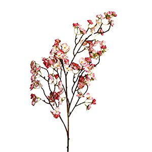 general3 38In Artificial Cherry Blossom Branches Flowers Fake Silk Peach Flower Arrangements for Home Wedding Party Decor (Dark Pink)