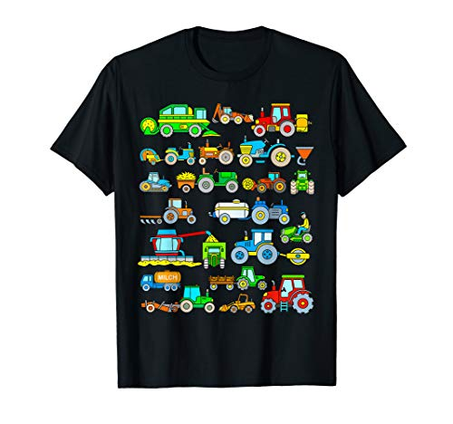 T Shirt Traktor Kinder 21 Bauernhof Fahrzeuge TShirt Jungen