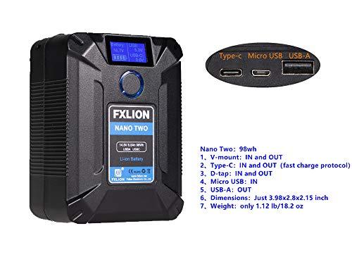 Cargador D-tap BP-95S Sony Li-Ion Batería 95Wh 14.4V Power-u para DSLR videocamer