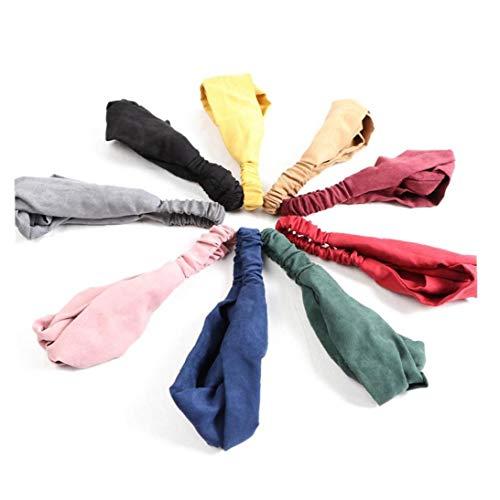 5pcs Womale Querknoten Turban Tist Knoten Stirnband-elastische Haar-band-kopf-verpackung Weiche Für Mädchen (random Styles)