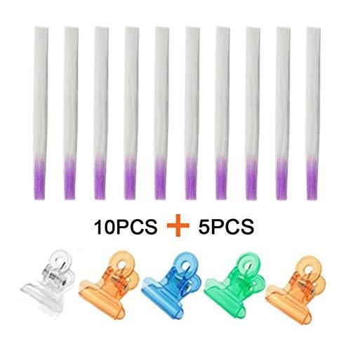 Faux Ongles Et Accessoires Clou Fibre Filament 10pcs + Plastique Formant Agrafe 5pcs
