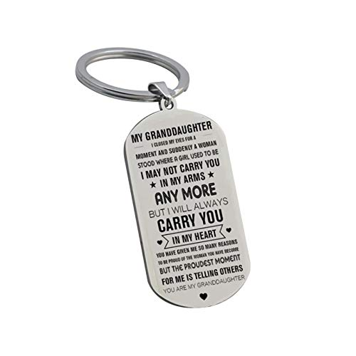 Key Ring Memory Gifts for Him/Her Inspirational Words Keyring Gifts for Families Never Forget How Much i Love You Gift Keychain