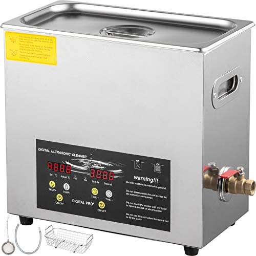 VEVOR 6L Upgraded Ultrasonic Cleaner Professional Digital...