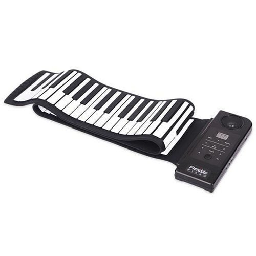 Sourcingbay 88 Tasten Roll up elektronischer Klaviertastatur Flexible Silikon Klaviertastatur mit aufrollbarer Elektronisches Lautsprecher und Fußpedal