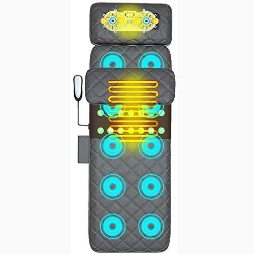 Multifunción eléctrica doméstica Calefacción masajeador corporal Salud almohada de cuerpo completo masaje almohadilla del colchón de la cintura, Massager del cuello para el coche, hogar, oficina