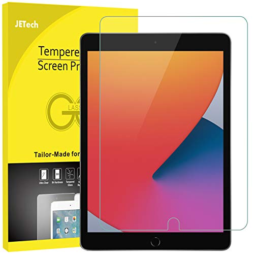 JETech Pellicola Protettiva Compatibile con iPad 8/7 (10,2 Pollici, Modello 2020/2019, 8/7 Generazione), Vetro Temperato