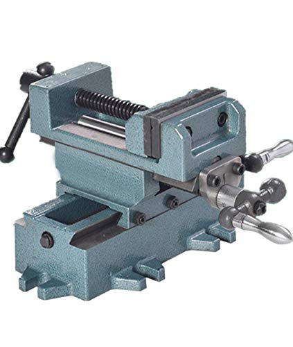Huanyu Cross Sliding Vise Metal Bench Clamp Drill Press Vice Engineering Working Milling Maschine Industrial Heavy-duty Benchtop (3 Inch)