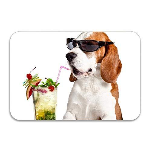 N/A Bebidas Gafas de Sol Beagle Super Absorbente Alfombrilla Antideslizante Divertido Felpudo Decoración Interior Alfombra Felpudo Pulgadas Antideslizante Hogar Decoracion Hogar Regalos 24'x36'