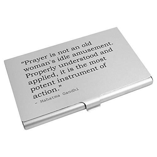 Azeeda God Quote By Mahatma Gandhi Business Card Holder / Credit Card Wallet (CH00013821)