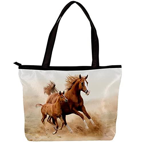 LORVIES Bolso bandolera para mujer de bebé caballo y mamá Bolso de mano para niña