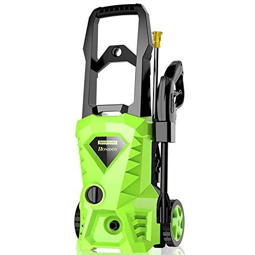 Homdox Electric Pressure Washer 2600 PSI,1.6 GPM Power Washer 1800W High Pressure Washer Car Washer with 4 Nozzles (Green)