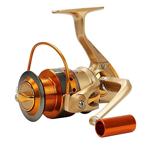 LINMAN Carrete de Pesca de Hilado de Agua Salada 500-9000 Series Metal Spool Carpa Carpa Carretes de Pesca Bobina Tackles 12bb (Bearing Quantity : 12, Color : Style)