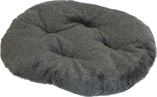 Dogcatbeds Hundebett für Hunde und Katzen Schlafplatz Hundekissen Hundebett Ovales Kissen ((M) 52x43cm Liegefläche, Grau)