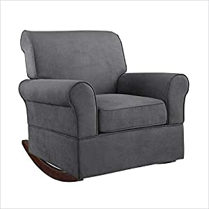 Pemberly Row Nursery Rocking Chair in Gray