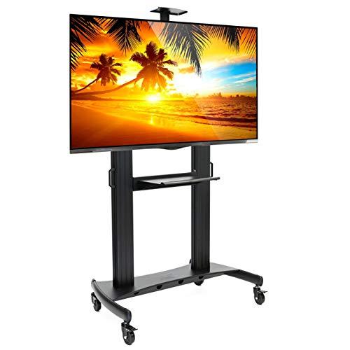 Soporte universal para TV con ruedas para pantalla plana de 60 pulgadas a 100 pulgadas, LED, LCD, OLED, televisores de plasma