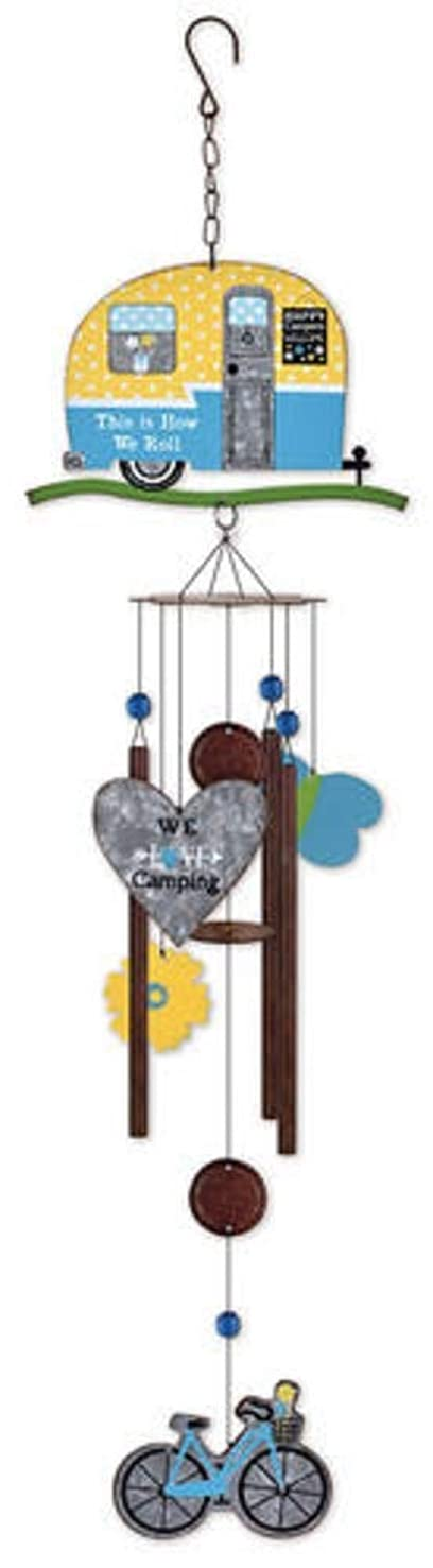 Sunset Vista Blue Camper Wind Chime Home Decor