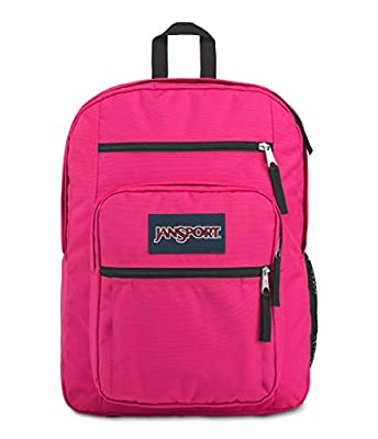 JanSport Big Student Backpack - Sustainable 15-inch Laptop School Bag, Bright Beet