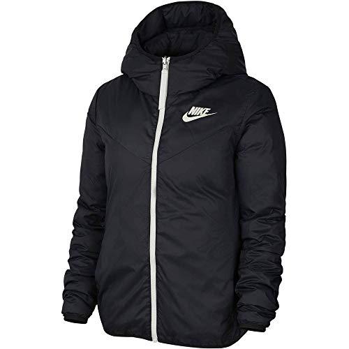 Nike W NSW WR Dwn Fill Jkt Rev - Giacca da Donna, Donna, 939438 011, Nero/Nero/Bianco (Black/Black/Sail), XS
