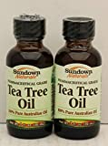 Sundown Naturals Tea Tree Oil 1 Ounce (Pack of 2)