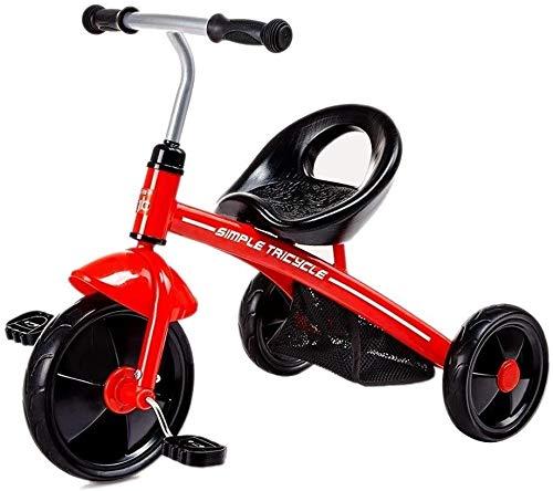 Xiaoyue Fahrräder Kinder Pedal Dreirad Baby-Fahrrad-Kinderwagen-Spielzeug-Auto-Fahrrad-Kinder (Farbe: Gelb, Größe: 59x46x72cm) lalay (Color : Red, Size : 59x46x72cm)