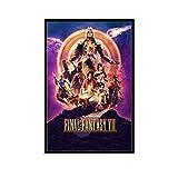 DRAGON VINES Póster de Final Fantasy 7 Remake Art Poster Impresión Granja Decorativa 20 x 30 cm