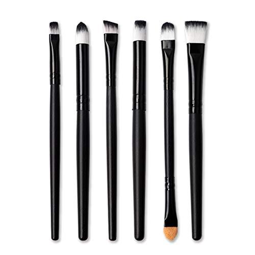 Augen Make-up-Pinsel-Set Professionelle Lidschatten-Pinsel-Set 6Pcs für Eye Liner Crease Auge Shader, Eyeliner, Augen Blending, Augen definieren, Augen Smudged-Natur-Haar