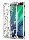 Oihxse Cristal Compatible con Huawei Y6S/Honor 8A/Y6 2019 Funda Transparente TPU Silicona Estuche Airbag Esquinas Anti-Choque Anti Rasguños Diseño Rosa Flower Caso (Flores A8)