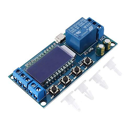 Cheng cheng Módulo de fuente de alimentación LCD Pantalla Temporizador Relé Módulo DC6-30V Ciclo Temporización OFF Interruptor de retardo DC AC Universal Conducción